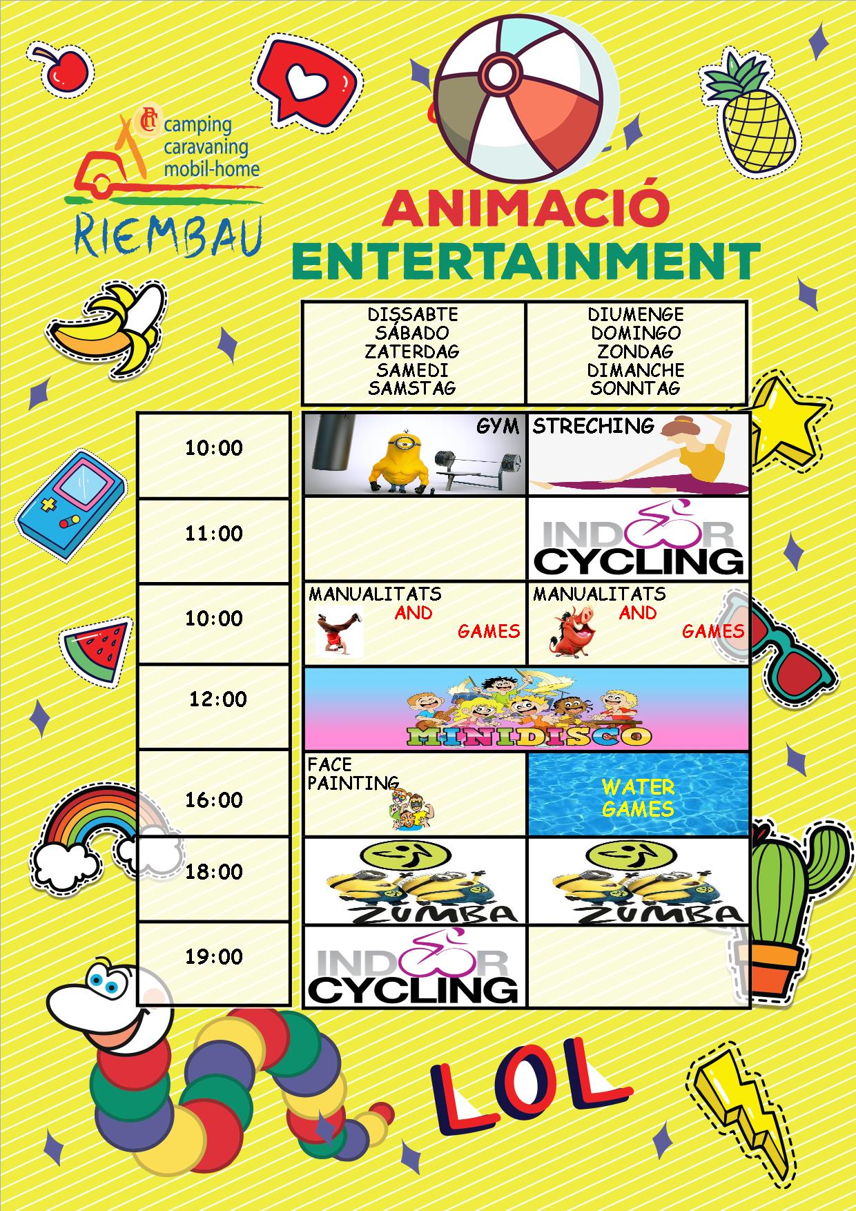 Activities from 08th to 09th June May by the Rimbi Club at Camping Riembau in Platja d'Aro!