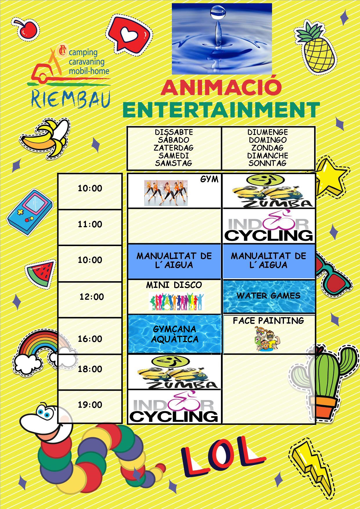 Activities from 15th to 16th June May by the Rimbi Club at Camping Riembau in Platja d'Aro!