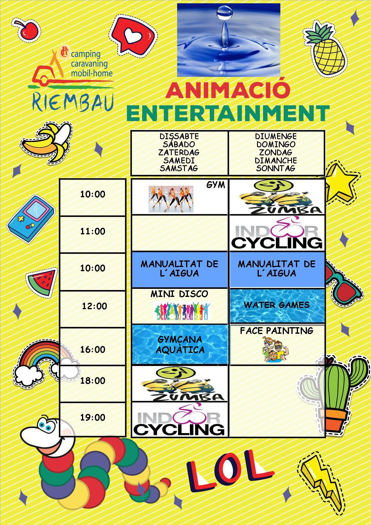 Aktivitäten vom 15. bis 16. Juni auf dem Camping Riembau in Platja d'Aro!