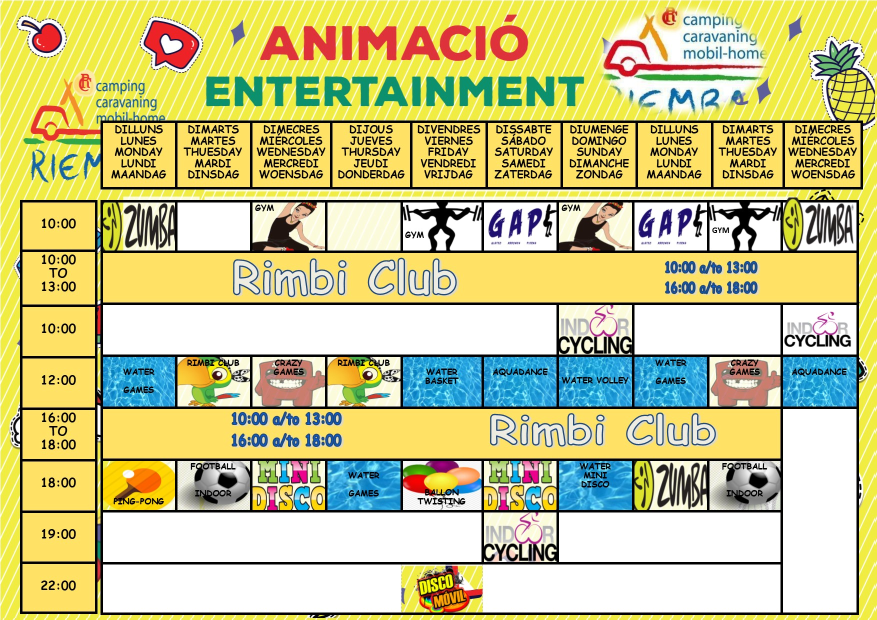 Activités de septembre au camping Riembau à Platja d'Aro!